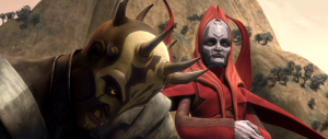 Mother Talzin with Savage Oppress Photo Credit - Star Wars: The Clone Wars Season 3, Episode 13