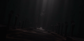 Darth Bane's Tomb - sarcophagus and statue at the far end. Photo Credit - Star Wars The Clone Wars (Season 6, Episode 13),