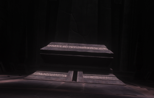 The sarcophagus of Darth Bane on Moraband Photo Credit - Star Wars The Clone Wars (Season 6, Episode 13),