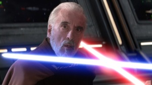 Dooku's face when Sidious says