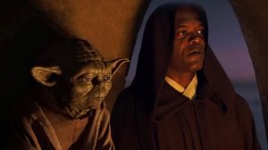 Masters Yoda and Windu at Qui-Gon Jinn's funeral Photo Credit - Star Wars Episode I: The Phantom Menace