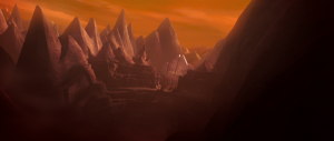 Moraband (ancient Sith structures in background) Photo Credit - Star Wars The Clone Wars (Season 6, Episode 13),