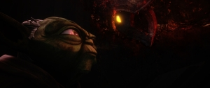 Master Yoda and Darth Bane, face-to-face Photo Credit - Star Wars The Clone Wars (Season 6, Episode 13),