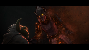 "Darth Bane speaks to Yoda Photo Credit - Star Wars The Clone Wars (Season 6, Episode 13), ""Sacrifices"""