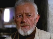 Alec Guinness as Obi-Wan in A New Hope Photo Credit - Star Wars Episode IV: A New Hope