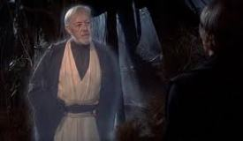 Obi-Wan as a Force ghost talks to Luke Photo Credit - Star Wars Episode VI: Return of the Jedi