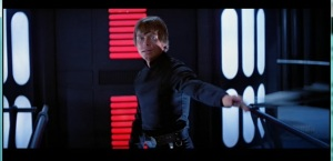 Luke throws away his lightsaber. Photo Credit - Star Wars Episode VI: Return of the Jedi