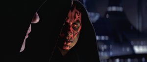 Darth Maul and Darth Sidious hold a secret meeting on Coruscant. Photo Credit - Star Wars Episode I: The Phantom Menace