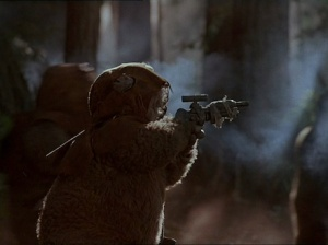 Ewoks on the attack!!! Photo Credit - Ewoks: The Battle for Endor