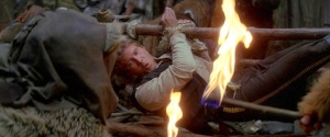 Han attempts to blow out the torch. Photo Credit - Star Wars Episode VI: Return of the Jedi
