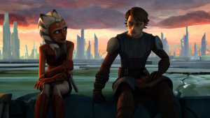 Anakin with his Padawan Ahsoka Tano Photo Credit - Star Wars: The Clone Wars (movie)