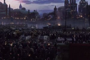 Padme's funeral procession passes through the streets of Theed. Photo Credit - Star Wars Episode III: Revenge of the Sith
