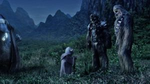 Yoda, Chewbacca, and Tarfful say their good-byes.  Photo Credit - Star Wars Episode III: Revenge of the Sith