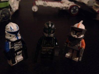 Three Clone Commanders