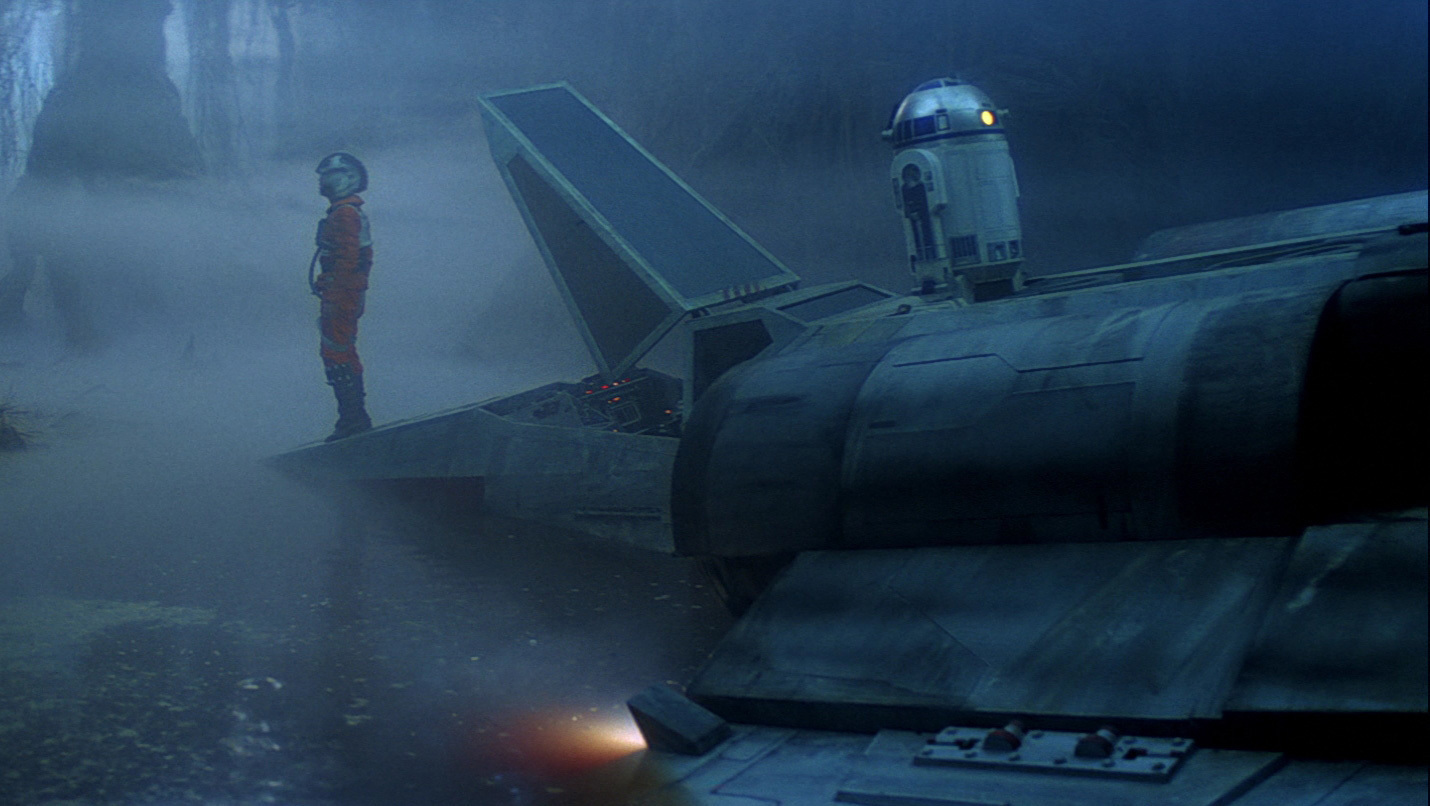 Luke Crashes on Dagobah
