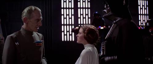 Leia Stares Down Tarkin